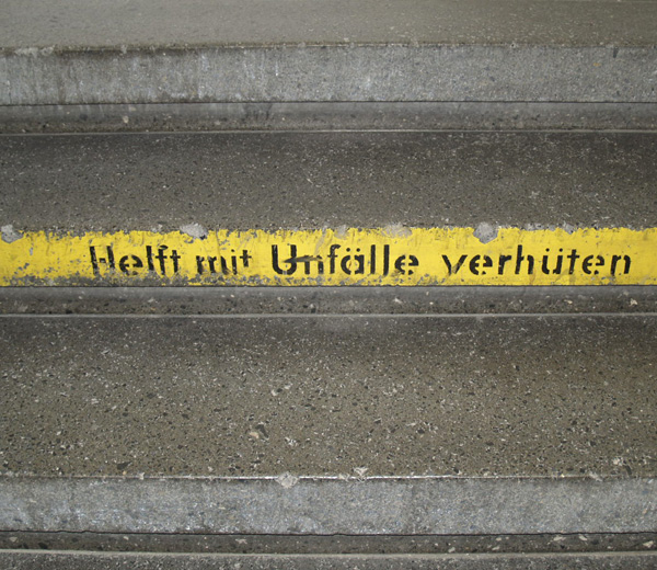 Treppenstufen des Salamander-Areals