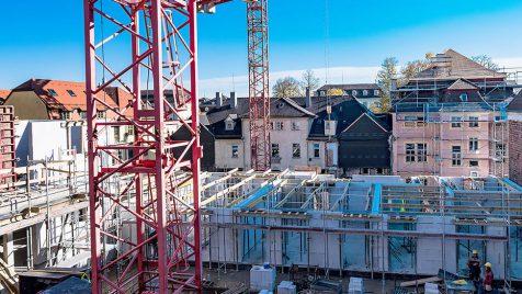 Offene Baustelle Ludwigsburg im Winter