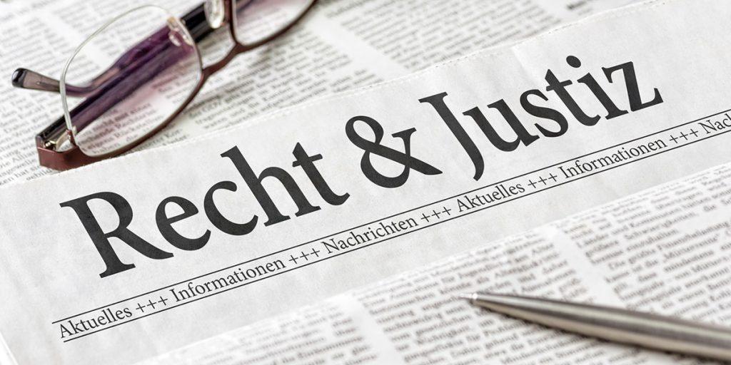 Recht und Justiz Zeitungsartikel