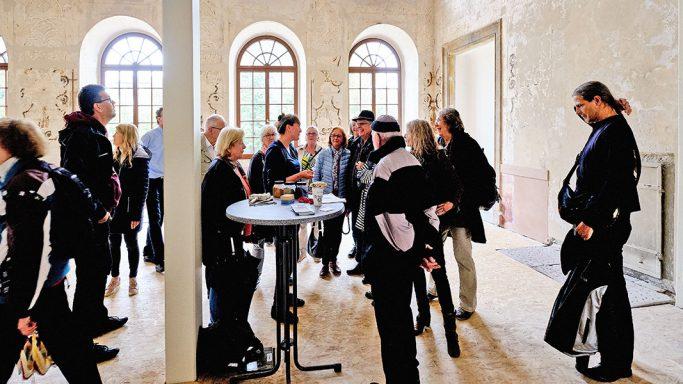 Besuchersituation beim Tag des offenen Denkmals 2019 im Grafenbau und Gesandtenbau