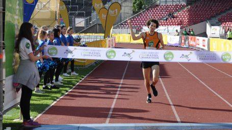 EAM Kassel Marathon 2019: Philipp Stuckhardt vor dem Sieg im Halbmarathon