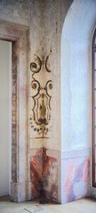 Kulturdenkmal Grafenbau, Ludwigsburg, Wand-Ornament im Großen Saal