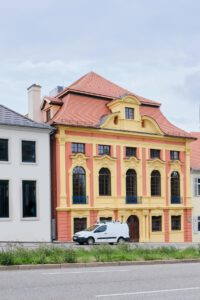 Kulturdenkmal Grafenbau, Ludwigsburg, restaurierte Fassade